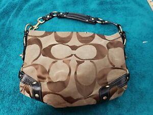 Coach-Carly-Signature-Classic-Hobo-Shoulder-Khaki-Medium-Handbag-10619