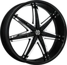 24 Inch 24x95 Massiv Spline Black Wheels Rims 5x45 5x1143 30