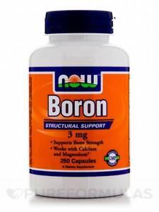 779ed9d34 A imagem está carregando Boron-3-mg-250-Capsules-by-NOW