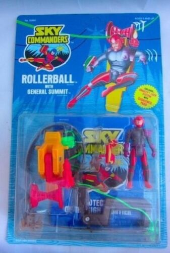 2x Vintage Sky Commanders Figures Rollerball /& Cable Raider Kenner Toys SEALED