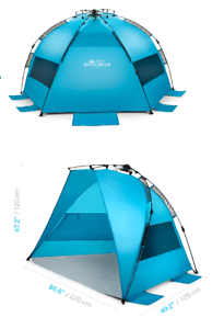 Beach Tent Pacific Breeze Easy Up Beach Tent Includes