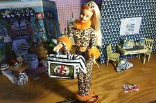 1:6 Barbie Dollhouse Miniature Beach Bag Purse Woven & Towel Accessory Handmade
