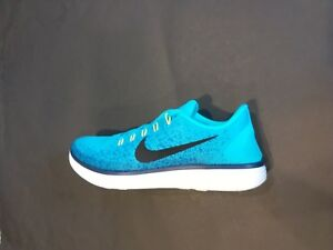 the best attitude 46a34 afdde Details about Mens NIKE FREE RN DISTANCE Blue Textile Running Trainers  827115 401 SZ-11
