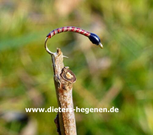 ROTE  Pfauengras Nymphen Hegenen-Nymphen Forellen Hegene Chiemsee Bodensee °