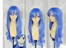 Fairy Tail Juvia Lockser Blue Costume Anime Cosplay Wig + Cap + Free Track No