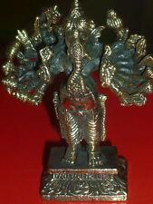 GANESH 16 BRACCIA METALLO ORO india induismo spirito energia statua orientale ki