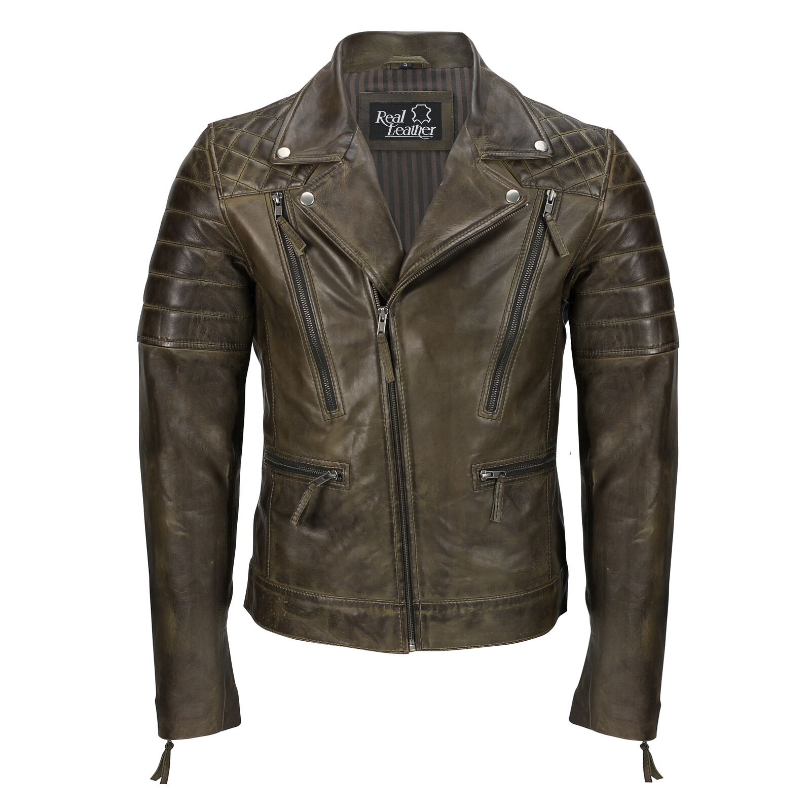 in Sleeves Wool Leather and Varsity Grün in Letterman Jacket JcT3l1FK