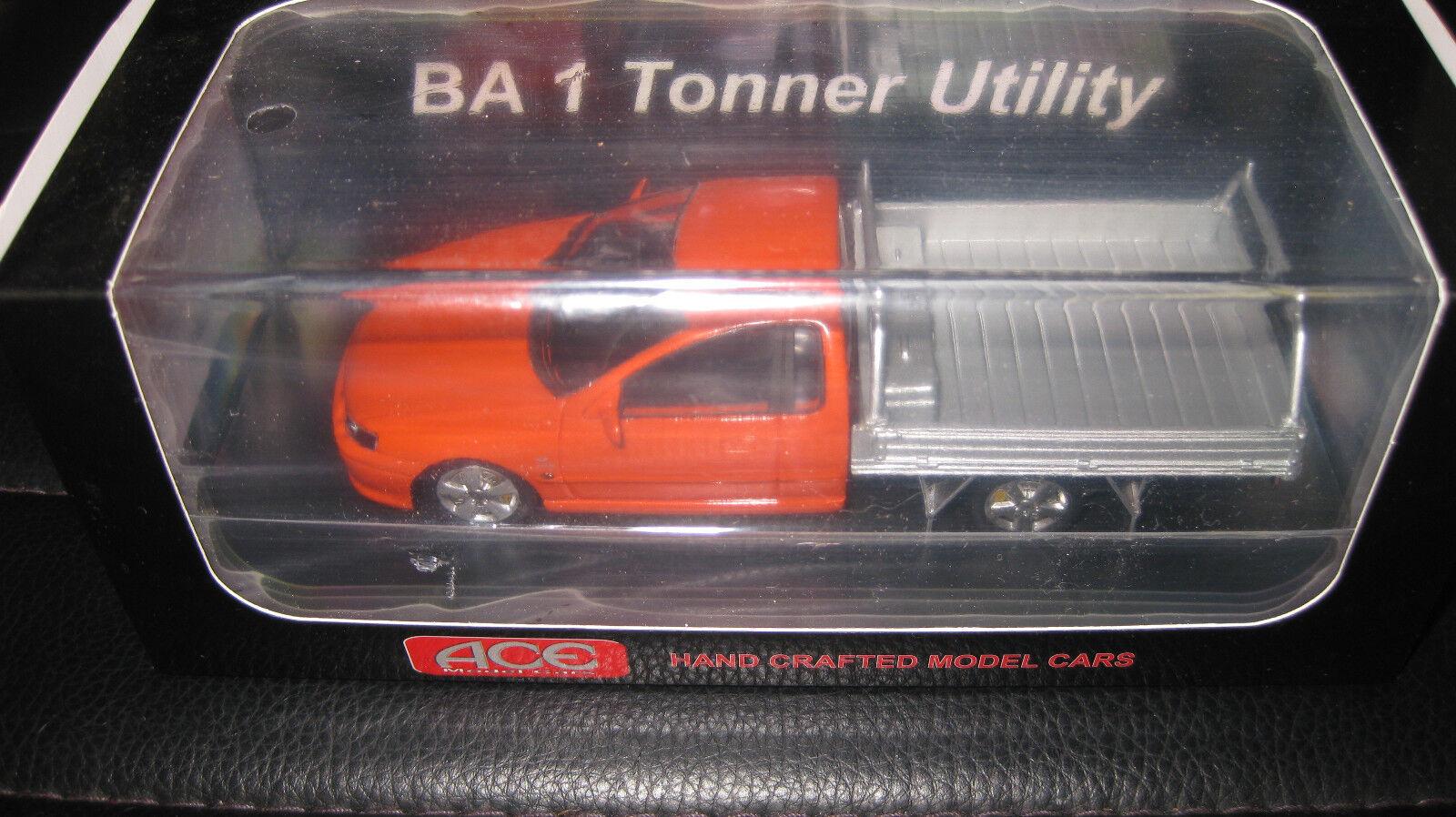1 43 ACE MODEL CARS FORD FALCON BA 1 1 1 TONNER UTE BLOOD orange LTD EDITION a5ee7b