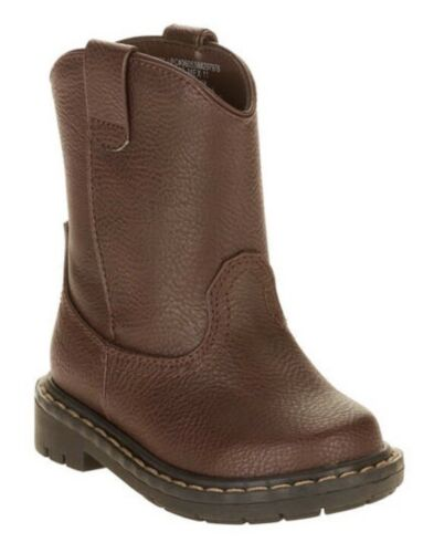NEW Garaminals Toddler Boys Faux Brown Leather Western Cowboy Boots 2 4 5 6