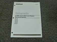 caterpillar cat 3126b 3126e engine electrical system schematic diagram  manual