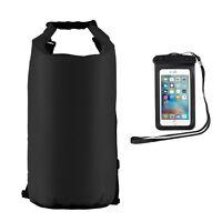 20L Seesack Packsack Tasche Wasserdicht Transportsack Drybag +Handy-Tasche Sport