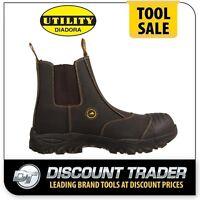 Diadora Craze Unisex Work Shoes Slip On Boots With Kevlar Insole - Fu1501sl-bk