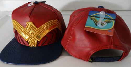 Wonder Woman Movie Suit UP DC Comics Faux Leather PU Snap Back Hat Nwt