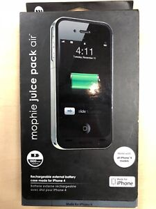 cheap for discount 0b604 3a97b Details about Mophie Juice Pack Air for iPhone 4 / 4S Battery Case - Black