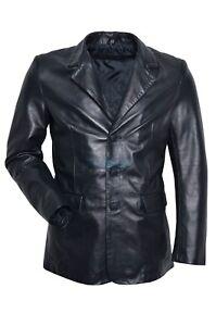 Elegante pecora Jim in pelle classico Black blazer di Slim italiana Napa wtTnqHzRR