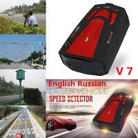 16 Band Car Radar Detector 360° Laser Speed Detectors W/English Russian Voice V7