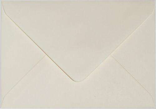 """5/"""" x 7/"""" Premiium qualité 130GSM ivoire 133mm x 184mm enveloppes-choix de quantité"""