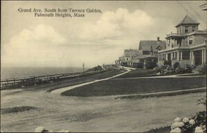 Falmouth-Heights-Cape-Cod-MA-Grand-Ave-c1910-Postcard
