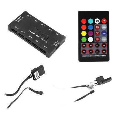 Painstaking Rainbow Pwm Fan Controller Remote Control System Adapter Takes Up To 10 Fans Fixing Prices According To Quality Of Products