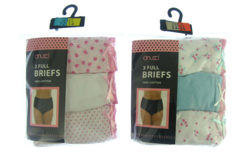 new Ladies  3 Pack Briefs Full  Fit Women Knickers Underwear Pants,size 12-26