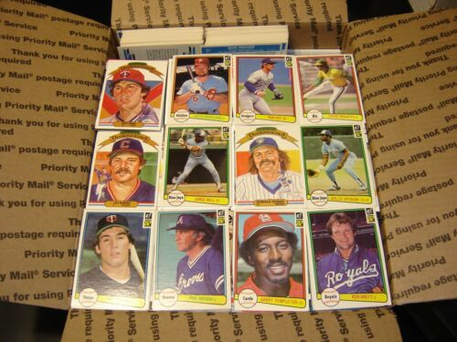 1982 Donruss Baseball Lot of // 3,200 Cards Mostly Commons w// Minor Stars Nice