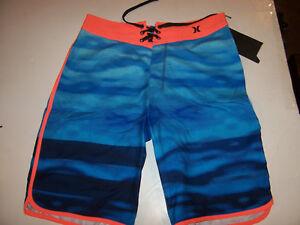 32ba5304cb Hurley orange blue youth boys swim board shorts swimsuit 8 10 16 18 ...