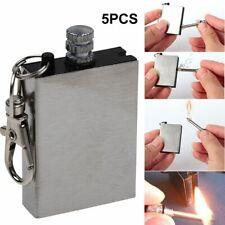 Xmomx 5 x Hiking Emergency Survival Camping Fire Starter Flint Metal Match Lighter