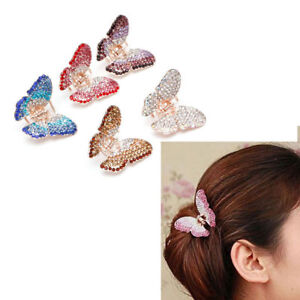 Fashion-Women-Girls-Butterfly-Claw-Crystal-Rhinestone-Hair-Clip-Clamp-Hairpin