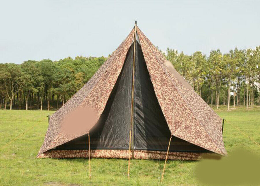 D68 Camouflage Outdoor Waterproof Marquee Tent Shade Camping Hiking 2.8X2.4M Z