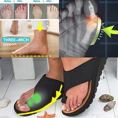 Slippers Corrector Leather UkEbay Comfy Pu Platform Toe Bunion Women Sandals Shoes n0Ow8Pk