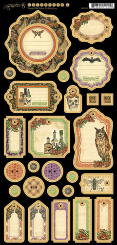 PCS Vintage Graphic45 Journaling Chipboard-RARE ODDITIES #1 scrapbooking 27