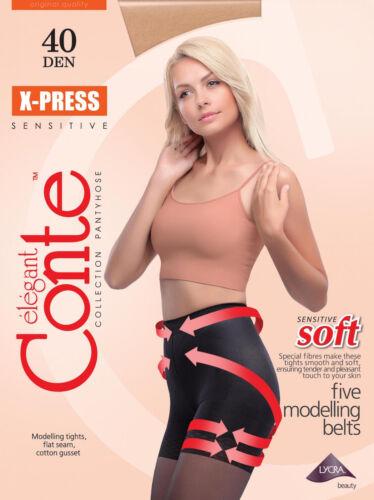 "Shaping Formende Damen Strumpfhose /""X-Press 40 Den /"" für sensitive Haut CONTE"