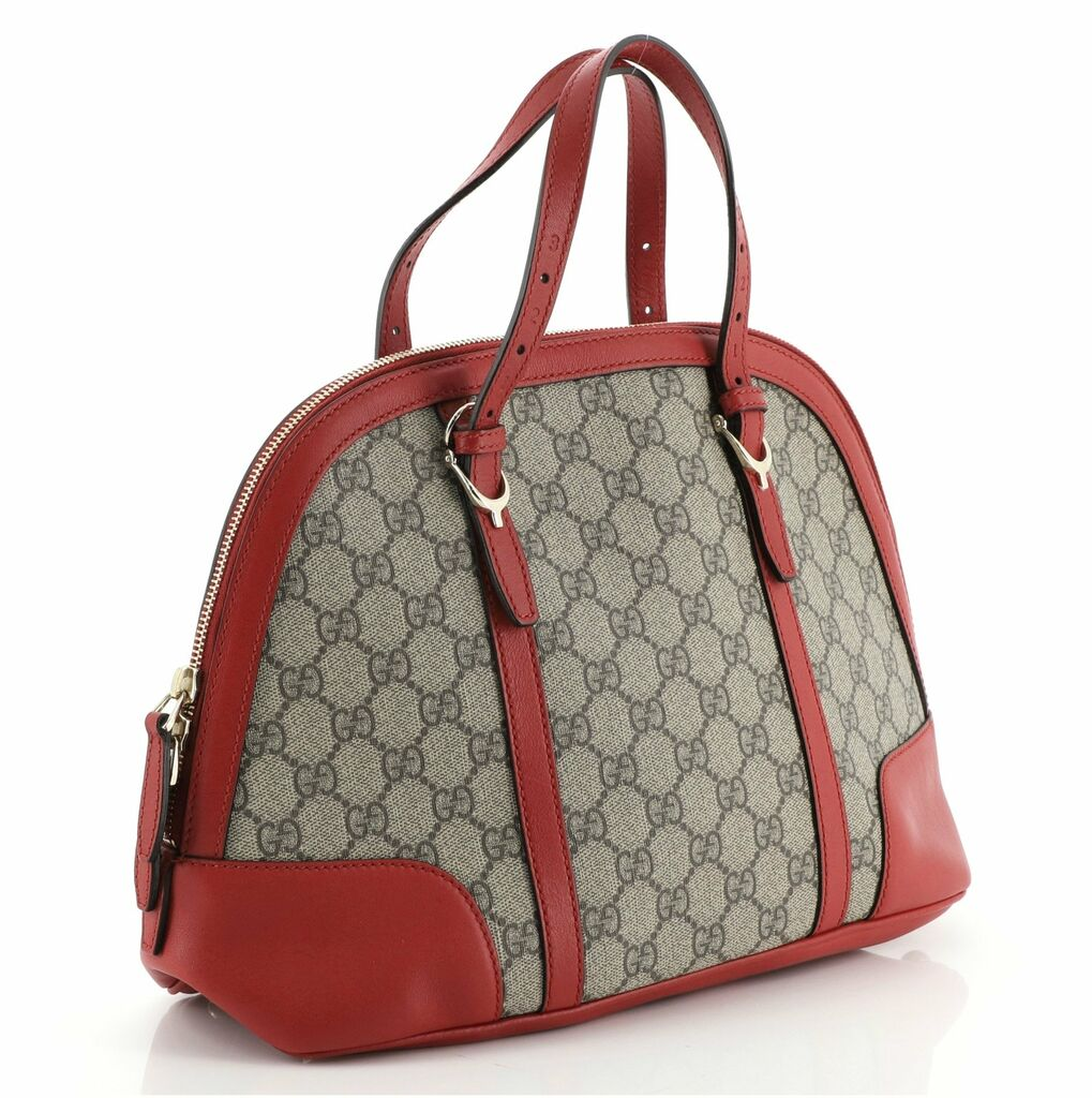 Gucci Nice Top Handle Bag GG Coated Canvas Small  | eBay