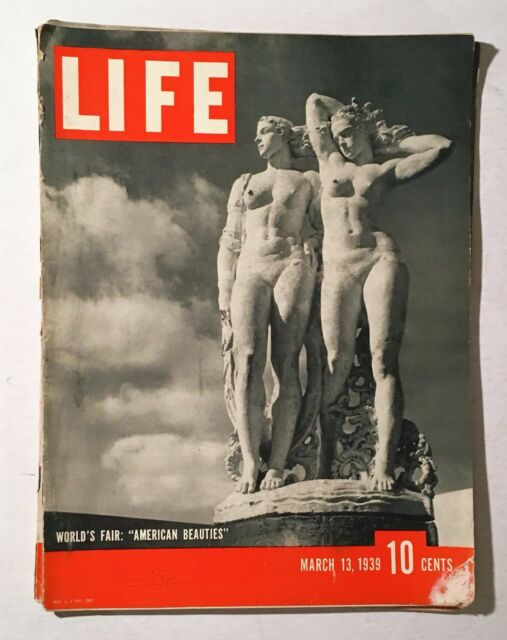 "Life Magazine March 13 1939 Back Issue New York World's Fair ""American Beauties"""