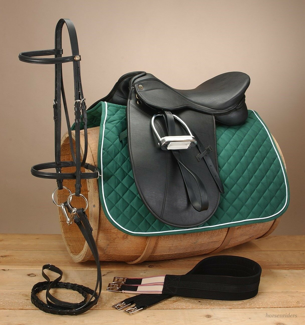 Pro Am Synthetic Dressage Saddle  Complete Pkg - 17  or 18  Seat-Regular or Wide  cheap online