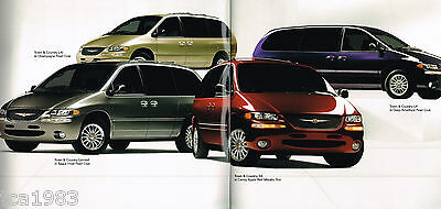 big 1999 chrysler town country minivan brochure catalog with color chart ebay big 1999 chrysler town country minivan brochure catalog with color chart ebay