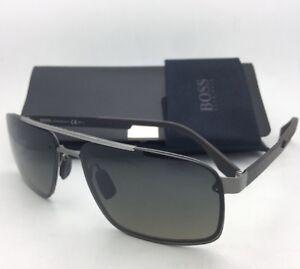 8fecdf18eb3 New HUGO BOSS Sunglasses 0773 S HXRR4 63-14 Ruthenium   Carbon Fiber ...
