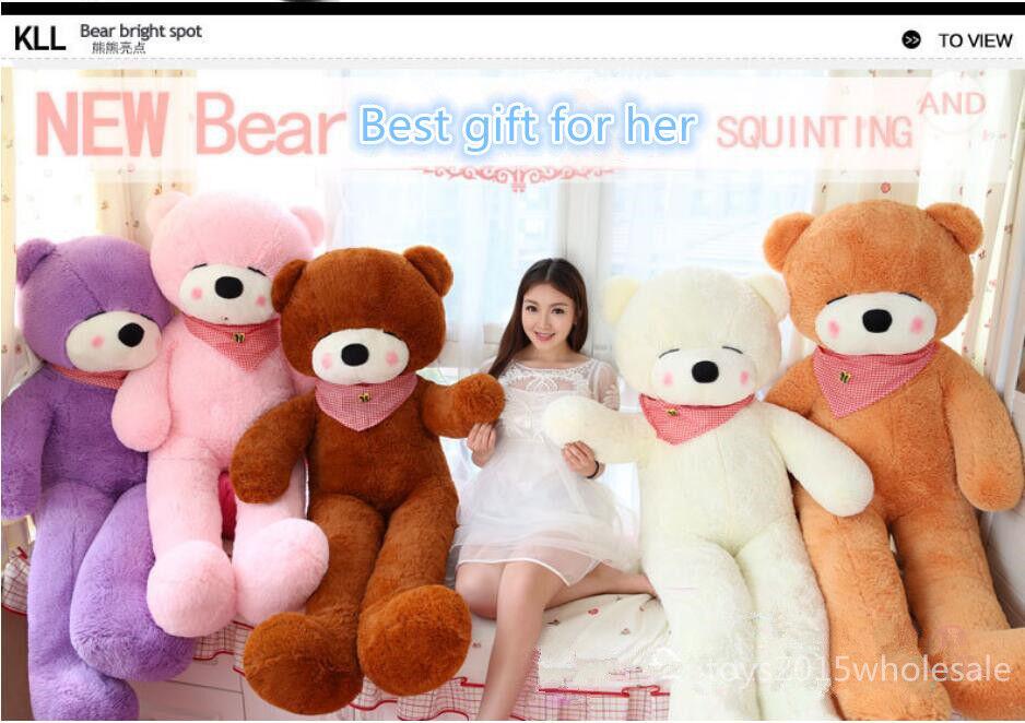 Giant Hung Sleepy Teddy Bear Plush Big Soft Toy Birthday Xmas Gift C153 Hot Sale