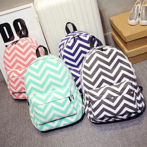 Fashion Women Canvas School Bag Girls Cute Backpack Travel Rucksack Shoulder Bag