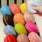Candy Color Soft Dessert Macaron Squishy Cute Cell Phone Charm Key Straps Random