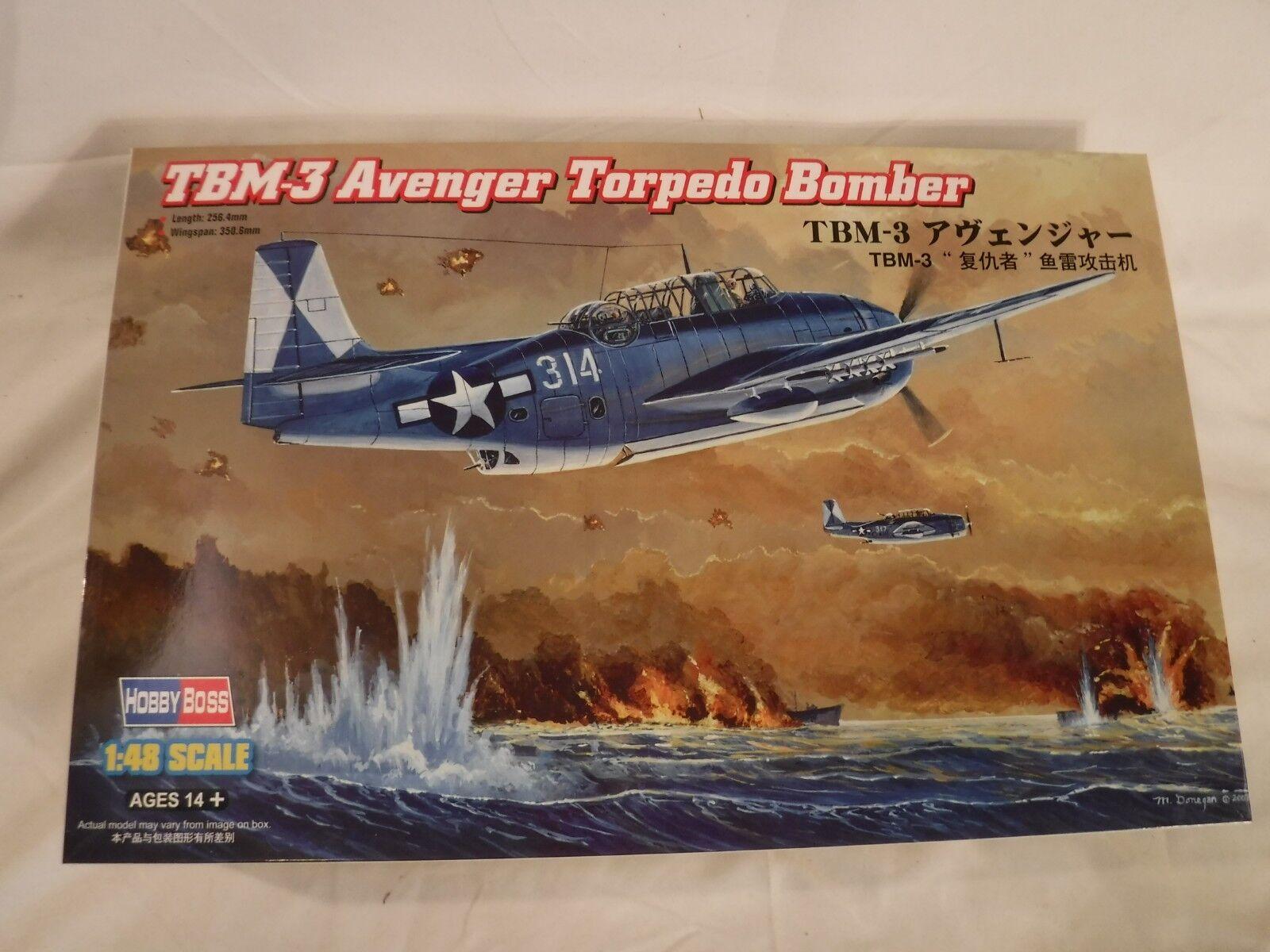 1 48 Hobby Boss US Navy TBM 3 Avenger Torpedo Bomber w  Decals 4 3 Versions
