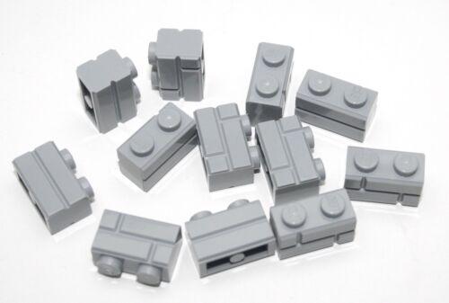 12x LEGO® Profilstein 1x2 Mauerwerk Ziegel 98283 NEU Hellgrau Light Bluish Gray