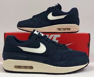 hot sales d34e5 796b2 Image is loading NIKE-AIR-MAX-1-ARMORY-NAVY-BLUE-SAIL-