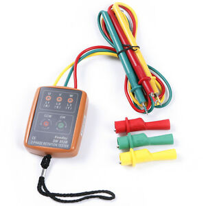 3 three phase rotation motor sequence meter tester for 3 phase motor rotation