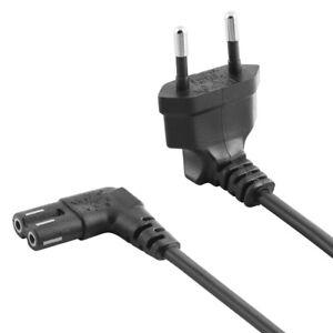 Netzkabel Stromkabel Kabel Strom Stecker auf C7 CEE 7/16 mit 2x Buchse Löcher