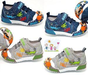 Garçons Toile Chaussures baskets bébé garçon en cuir véritable Semelles Taille 3.5 UK 7 Toddler-afficher le titre d`origine pUFaNRQe-07153719-342476631