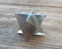 Natural Fluorite Gemstone Merkaba Star (one)