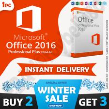 Microsoft Office 2016 Professional/Pro Plus 32/64-bit🔥100% Genuine MS 1PC Key🔥