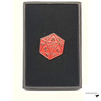 Dungeons And Dragons Funny High Quality Gift Box Enamel Pin Badge Red