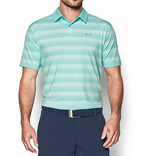 Under Armour CoolSwitch Bermuda Stripe Polo Mens Golf Performance Polo Shirt Blue Infinity Large NRCc8N